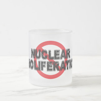 Ban Nuclear Proliferation Frosted Glass Coffee Mug