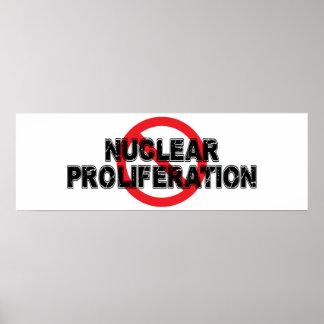 Ban Nuclear Proliferation Poster