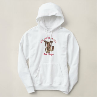 Ban Stupid People Not Dogs End BSL Emb Sweatshirt