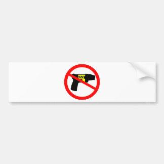 Ban tazers symbol. bumper sticker