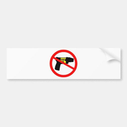 Ban tazers symbol. bumper stickers
