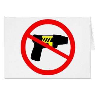 Ban tazers symbol. cards