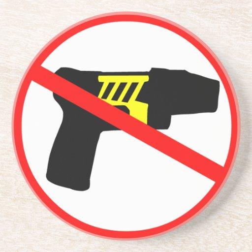 Ban tazers symbol. coaster