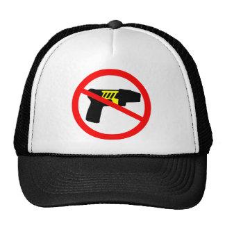 Ban tazers symbol. mesh hat