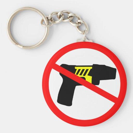 Ban tazers symbol. keychain
