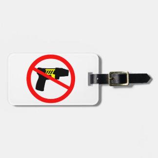 Ban tazers symbol. travel bag tags
