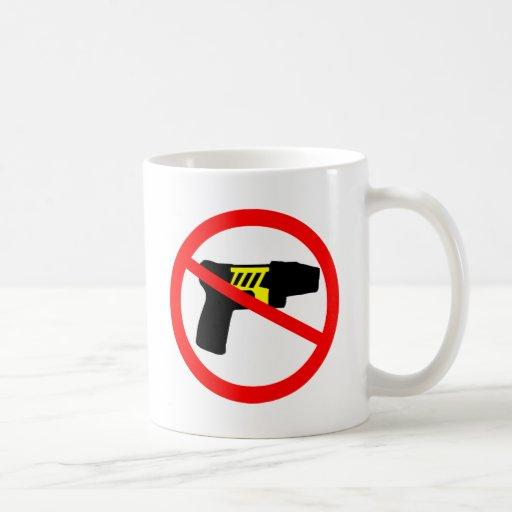 Ban tazers symbol. mugs