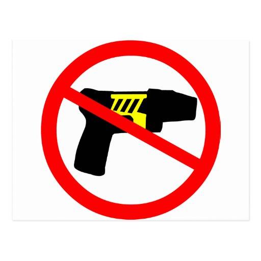 Ban tazers symbol. postcards