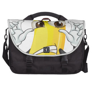 banana angry smiley laptop bags