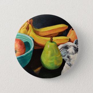 Banana Apple Pear Still Life 2 Inch Round Button