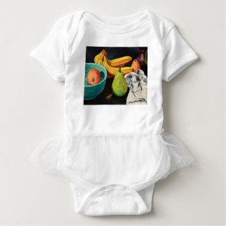 Banana Apple Pear Still Life Baby Bodysuit