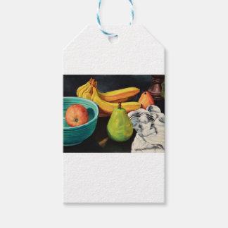 Banana Apple Pear Still Life Gift Tags