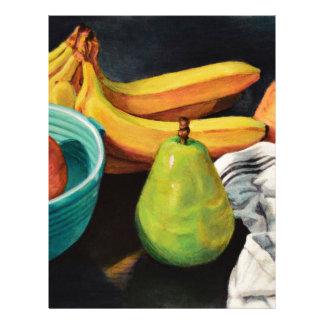 Banana Apple Pear Still Life Letterhead