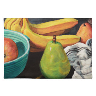 Banana Apple Pear Still Life Placemat