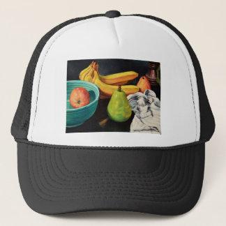 Banana Apple Pear Still Life Trucker Hat