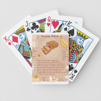 Banana Bread Day - Appreciation Day Bicycle Playing Cards
