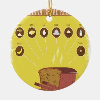 Banana Bread Day - Appreciation Day Ceramic Ornament