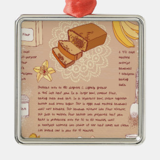 Banana Bread Day - Appreciation Day Metal Ornament
