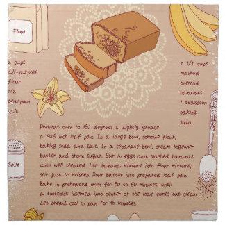 Banana Bread Day - Appreciation Day Napkin