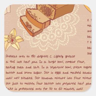 Banana Bread Day - Appreciation Day Square Sticker
