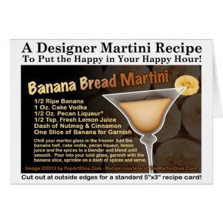 Banana Bread Martini Recipe Card