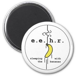 Banana Bungee Jump 2 Inch Round Magnet