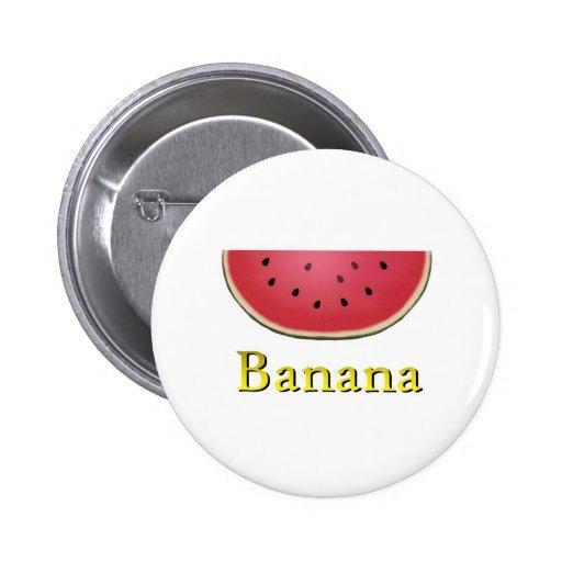 Banana Pinback Buttons