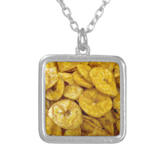 Banana Chips Silver Plated Necklace