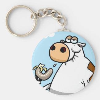 Banana Cow Keychain