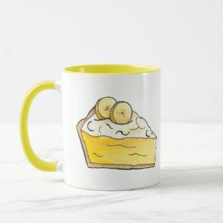 Banana Cream Creme Pie Slice Dessert Baking Yellow Mug