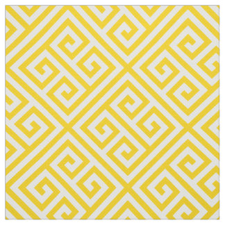 Banana Cream Pie Greek Key Pattern Fabric