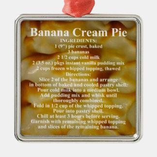 Banana Cream Pie Recipe Metal Ornament