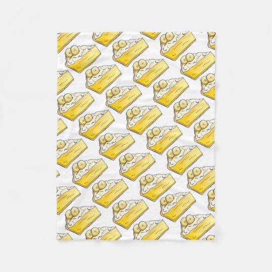 Banana Cream Pie Slice Dessert Foodie Blanket