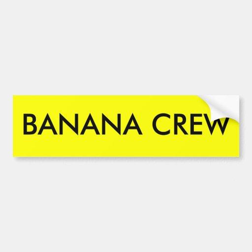 BANANA CREW BUMPER STICKERS