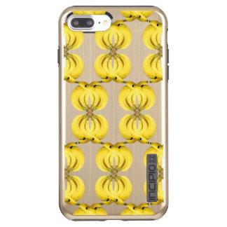 Banana Damask Golden Yellow Tropical Food Art Incipio DualPro Shine iPhone 7 Plus Case