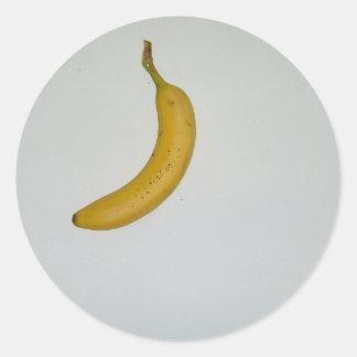 Banana design round sticker