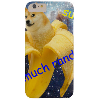 banana   - doge - shibe - space - wow doge barely there iPhone 6 plus case