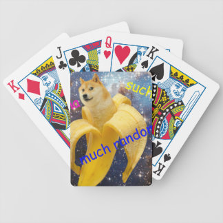 banana   - doge - shibe - space - wow doge bicycle playing cards