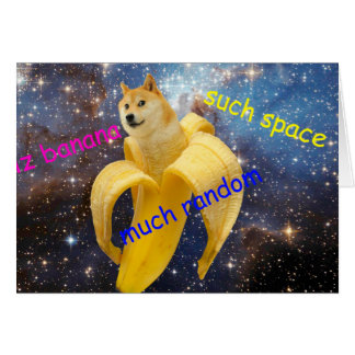 banana   - doge - shibe - space - wow doge card