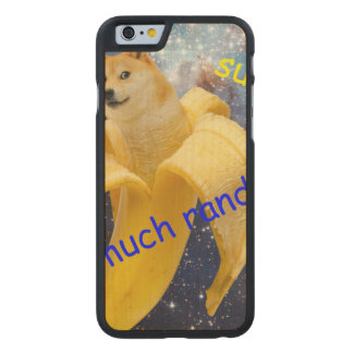 banana   - doge - shibe - space - wow doge carved maple iPhone 6 case
