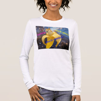 banana   - doge - shibe - space - wow doge long sleeve T-Shirt