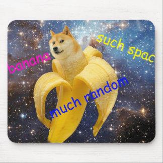 banana   - doge - shibe - space - wow doge mouse pad