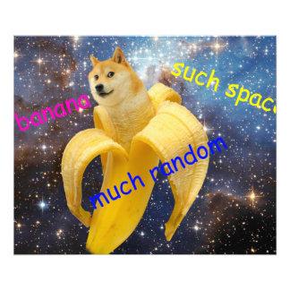 banana   - doge - shibe - space - wow doge photo art