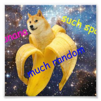 banana   - doge - shibe - space - wow doge photo print