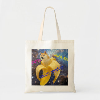 banana   - doge - shibe - space - wow doge tote bag