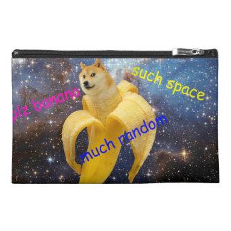 banana   - doge - shibe - space - wow doge travel accessory bag