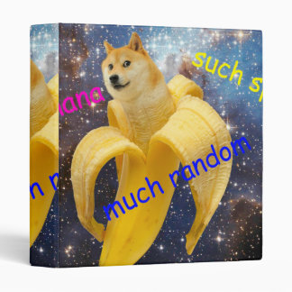 banana   - doge - shibe - space - wow doge vinyl binders