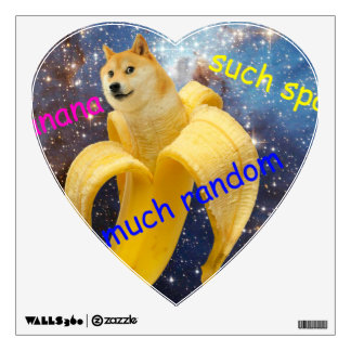 banana   - doge - shibe - space - wow doge wall sticker
