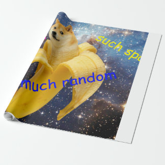 banana   - doge - shibe - space - wow doge wrapping paper