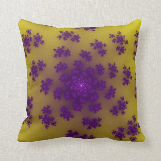 Banana Floral Sprinkles Throw Pillow